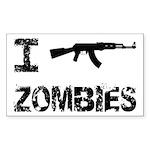 I Shoot Zombies Sticker (Rectangle 10 pk)