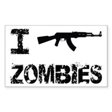 I Shoot Zombies Decal