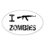 I Shoot Zombies Sticker (Oval 10 pk)