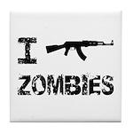 I Shoot Zombies Tile Coaster