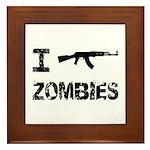 I Shoot Zombies Framed Tile