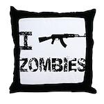 I Shoot Zombies Throw Pillow