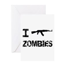 I Shoot Zombies Greeting Card
