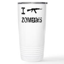 I Shoot Zombies Travel Coffee Mug
