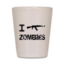 I Shoot Zombies Shot Glass