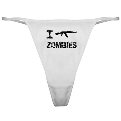I Shoot Zombies Classic Thong