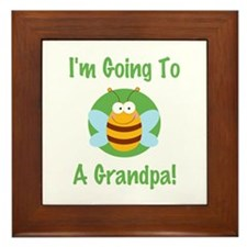 Bee A Grandpa Framed Tile