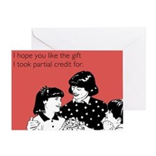Partial Credit Gift Greeting Card