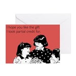 Partial Credit Gift Greeting Cards (Pk of 20)