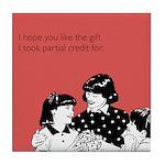 Partial Credit Gift Tile Coaster