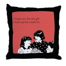 Partial Credit Gift Throw Pillow