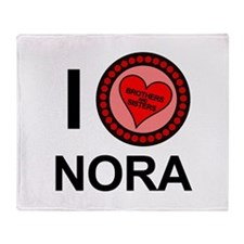 I Love Nora Brothers & Sisters Throw Blanket