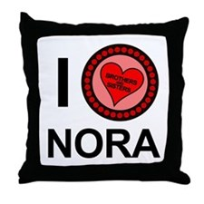 I Love Nora Brothers & Sisters Throw Pillow