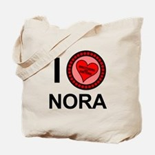 I Love Nora Brothers & Sisters Tote Bag