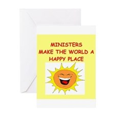 minister Greeting Card