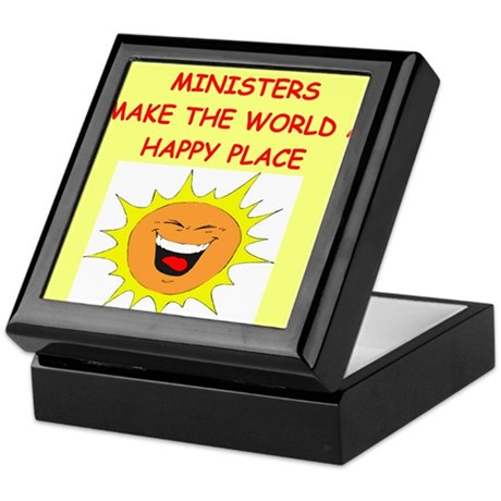 minister Keepsake Box