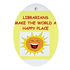 librarians Ornament (Oval)