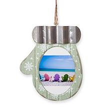 Holiday Dressage Ornament (Round)