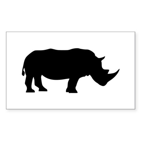 Rhino Sticker (Rectangle)