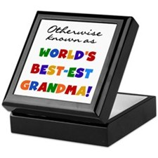 Otherwise Known Best Grandma Keepsake Box