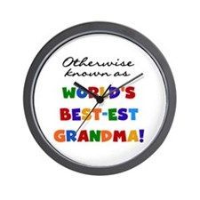 Otherwise Known Best Grandma Wall Clock