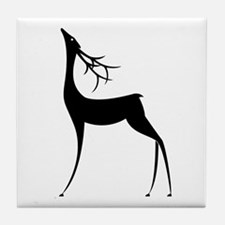 Elegant Reindeer Games Tile Coaster