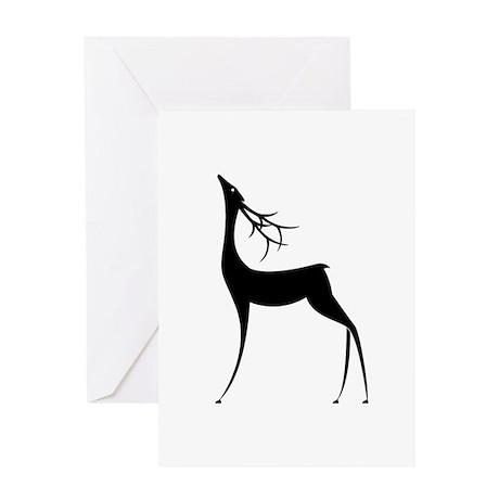 Elegant Reindeer Games Greeting Card