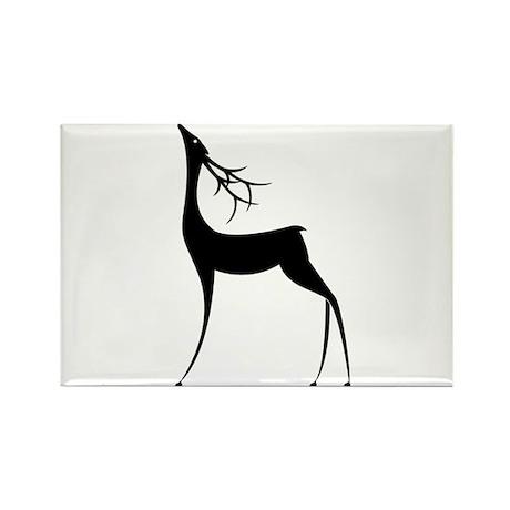 Elegant Reindeer Games Rectangle Magnet