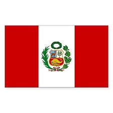 Flag of Peru Rectangle Decal