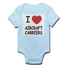 I heart aircraft carriers Infant Bodysuit