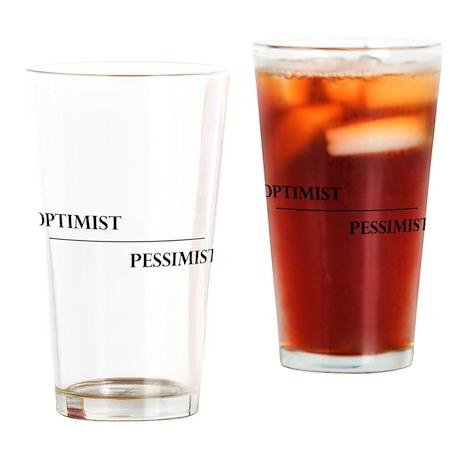 Optimist Pessimist Glass Drinking Glass