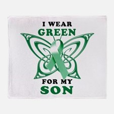 I Wear Green for my Son Throw Blanket