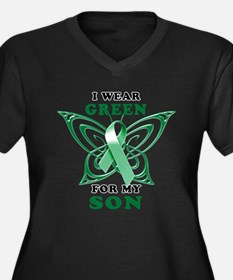 I Wear Green for my Son Women's Plus Size V-Neck D
