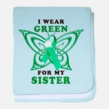 I Wear Green for my Sister baby blanket