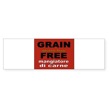 Grain Free-uomo Sticker (Bumper)