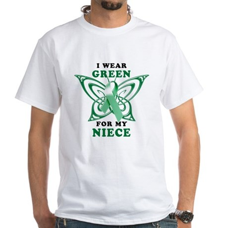 I Wear Green for my Niece White T-Shirt