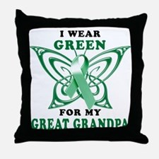 I Wear Green for my Great Gra Throw Pillow