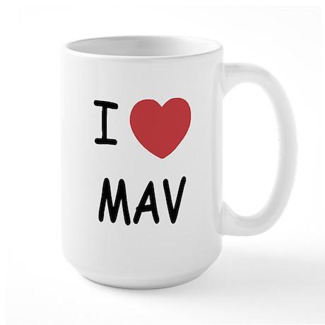I heart mav Large Mug