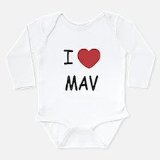 I heart mav Long Sleeve Infant Bodysuit