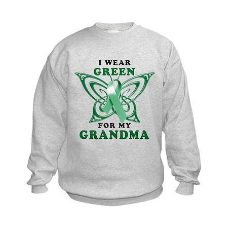 I Wear Green for my Grandma Kids Sweatshirt