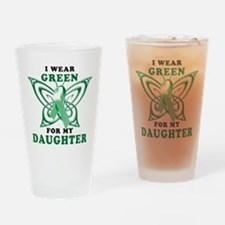 I Wear Green for my Daughter Drinking Glass