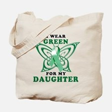 I Wear Green for my Daughter Tote Bag