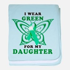 I Wear Green for my Daughter baby blanket