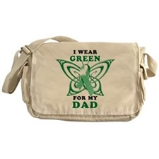 I Wear Green for my Dad Messenger Bag