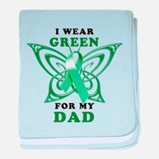 I Wear Green for my Dad baby blanket