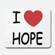 I heart hope Mousepad
