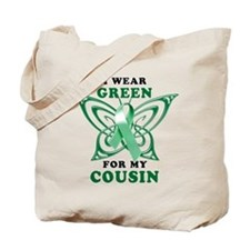I Wear Green for my Cousin Tote Bag