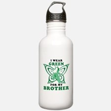 I Wear Green for my Brother Water Bottle
