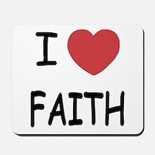 I heart faith Mousepad