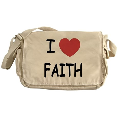 I heart faith Messenger Bag